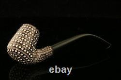 Srv Premium Lattice Block Meerschaum Pipe with custom CASE 10924