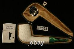 Srv Premium Lattice Canadian Block Meerschaum Pipe with custom CASE 10053