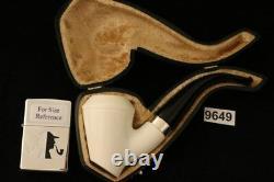 Srv Premium Sitter Rhodesian Block Meerschaum Pipe in a custom CASE 9649