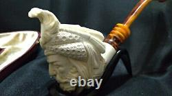Sultan Meerschaum pipe carved from the Block Meerschaum with case by CPW