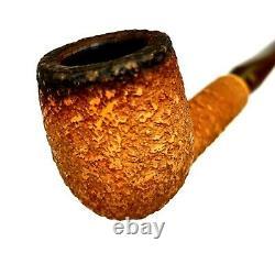 Superb Peterson's Block Meerschaum Rustic Billiard Estate Pipe P-lip