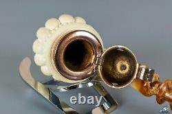 Superb Quality Hand-Carved Block Meerschaum Freehand
