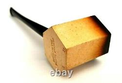 Superb! Unsmoked! African Block Meerschaum (17h) Paneled Poker Estate Pipe