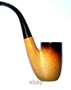 Superb! Unsmoked! African Block Meerschaum (22) Oom Paul Sitter Estate Pipe
