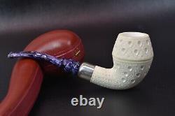 TEKIN Lattice Design Rhodesian Pipe New Block Meerschaum Handmade W Case#898