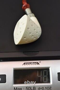 Tekin Calabash Pipe -new-block Meerschaum Handmade W Case#767 Army Pocket Spigot