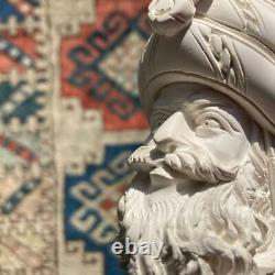 UNSMOKED Sultan Head Hand-Carved Block Meerschaum Pipe