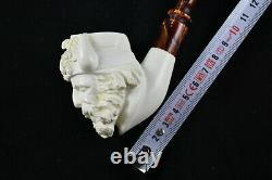 Viking Meerschaum Pipe, Block Meerschaum, Unsmoked Pipe