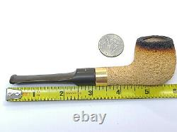 Vintage BARLING'S EB WB Gold BAND BLOCK MEERSCHAUM Pipe UNSMOKED
