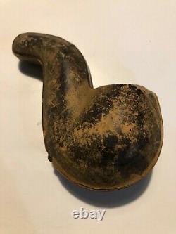 Vintage Block Meerschaum Pipe with Amber stem