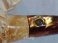 Vintage CAO Handcrafted Block Meerschaum Tobacco Pipe