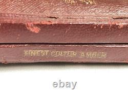 Vintage Genuine Medico Filter Pipe With Silver Inlay In Block Meerschaum Case