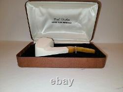 Vintage Paul Fischer Amber colored Genuine Block Meerschaum Pipe