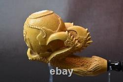 XL Claw Pipe W USMC Emblem And Anchor By ALI Block Meerschaum New W Case-tamper
