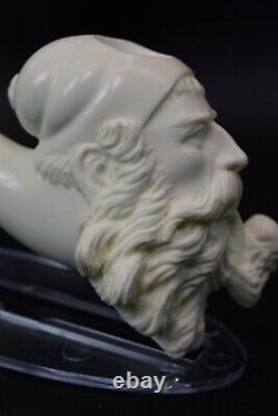 XL Erdogan Ege Dunhill Head Pipe New Block Meerschaum Handmade W Case#1186