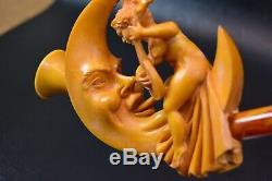 XL Moon&nude Lady Pipe S Yanik By New Block Meerschaum Handmade W Case-Stand1188
