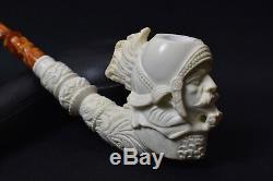 XL Roman Warrior Pipe Block Meerschaum-NEW W CASE#648