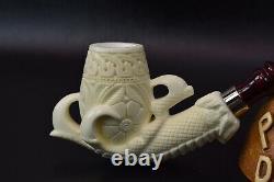 XL SIZE Claw Pipe By ALI-new-block Meerschaum Handmade W Case&Tamper#721