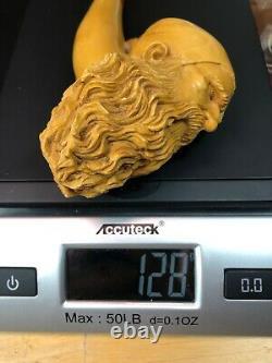 XL SIZE Dunhill Head PIPE-BLOCK MEERSCHAUM-NEW-HANDCARVED- W Case#1393