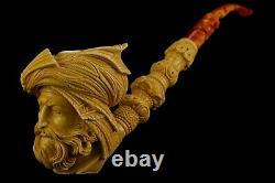 XL Size Ottoman King / Pasha Pipe Block Meerschaum-NEW W CASE-tamper#499