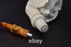 XXL CAVALIER Figure Pipe By YUSUF block Meerschaum New W Case#889