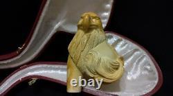 Xlarge Horse & Eagle Meerschaum Pipe Handcarved From Block Meerschaum By Adnan
