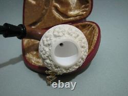 (not A Gourd) Small Flower Embossed Sherlock Holmes Calabash Block Meerschaum